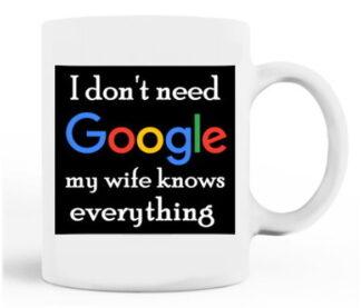 I Don't Need Google Porcelain Mug