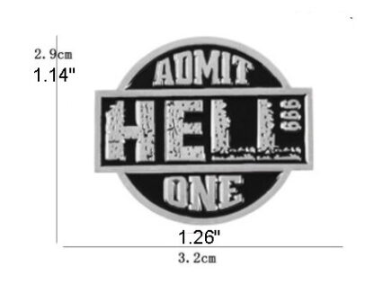 Hell Admit One Round Enamel Pin