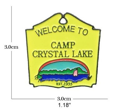 Friday the 13th Camp Crystal Lake Enamel Pin