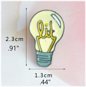 Lit Lightbulb Enamel Pin