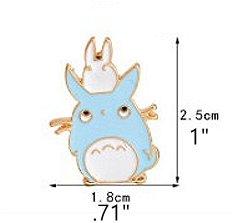 Anime My Neighbor Tortoro Chuu & Chibi-Totoro Enamel Pin