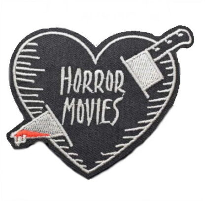 Horror Movies Stabbed Heart Iron-On Patch