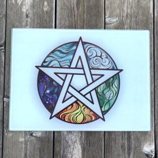 Cutting Board - Wiccan Pentagram
