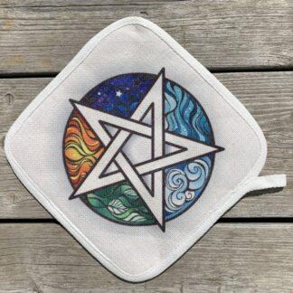 Wiccan Pentagram Pot Holder