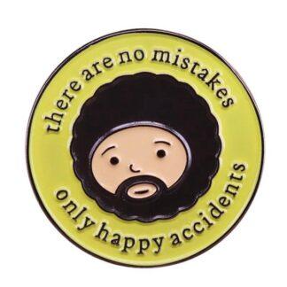 Bob Ross Happy Accidents Enamel Pin